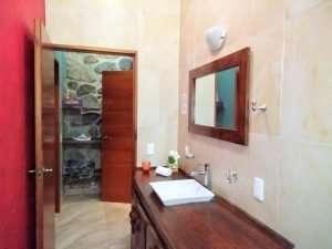 """Bathroom Sink – """"La Casa de Los Angeles"""" - Beach House Room - Treasure by The Sea Resort"""