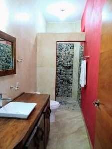 """Bathroom – """"La Casa de Los Angeles"""" - Beach House Room - Treasure by The Sea Resort"""