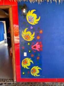 """Artwork in Front of Cabana – """"Las Chicas Bailando"""" – Happy Hill Room - Treasure by The Sea Resort"""