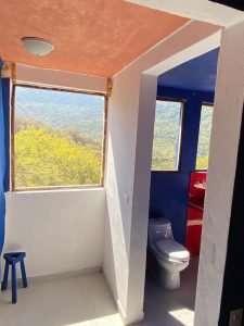 """Bathroom – """"Las Chicas Bailando"""" – Happy Hill Room - Treasure by The Sea Resort"""