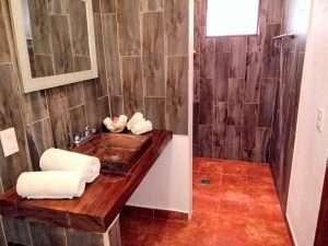 "Bathroom – ""Los Girasoles"" - Beach House Room - Treasure by The Sea Resort"