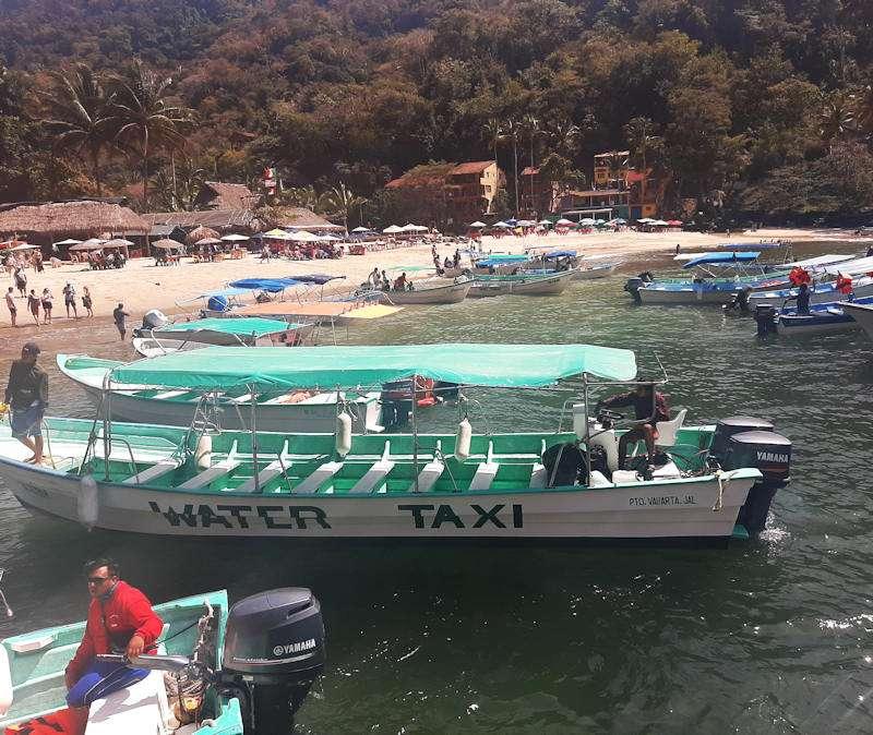 Water taxi from Boca de Tomatlan